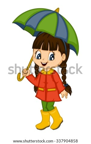 cute little girl in autumn