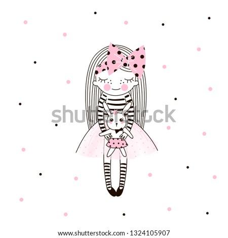 cute little girl in pink