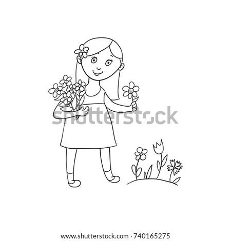 cute little girl in summer