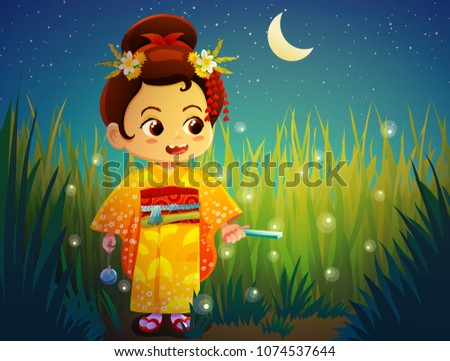 cute little girl in traditional