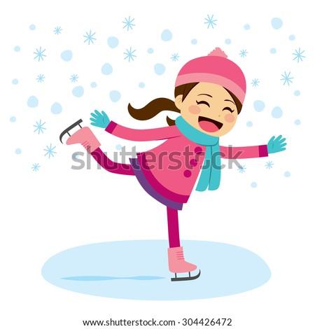 cute little girl wearing warm