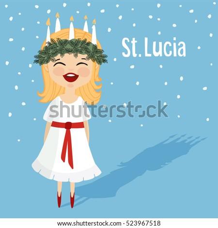 cute little girl with wreath