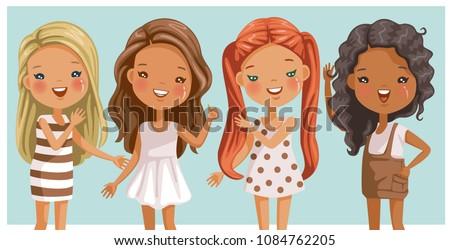 cute little girls long hair