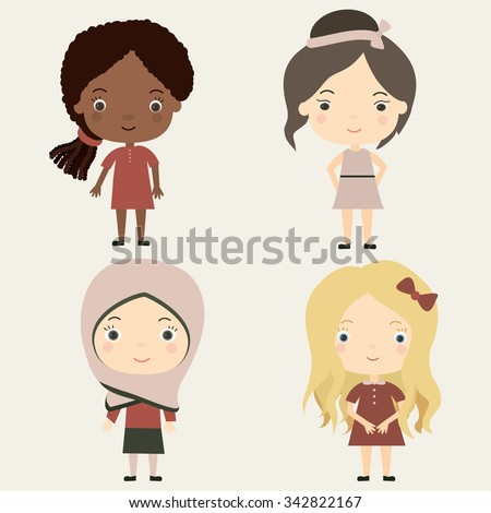 cute little girls of different
