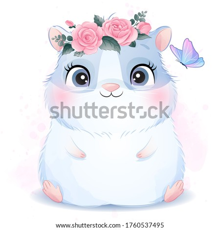 cute little guinea pig with