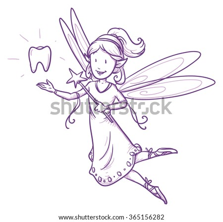 cute little happy fairy girl