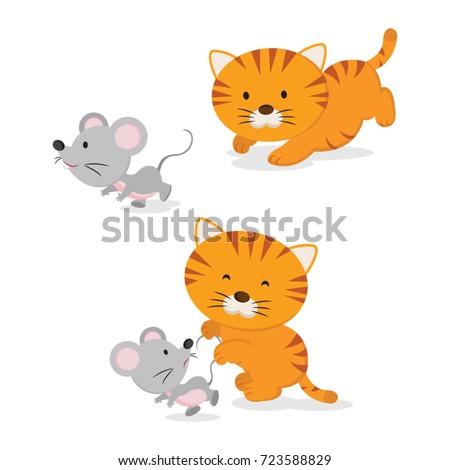 cute little kitten catching a