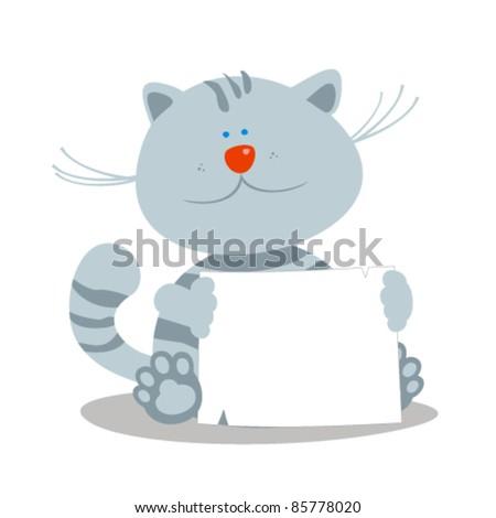 cute little kitten with empty