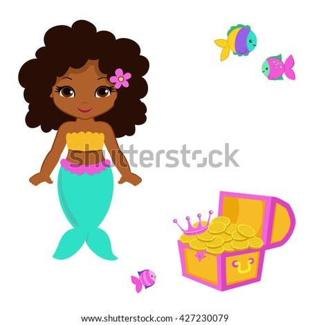cute little mermaidvector