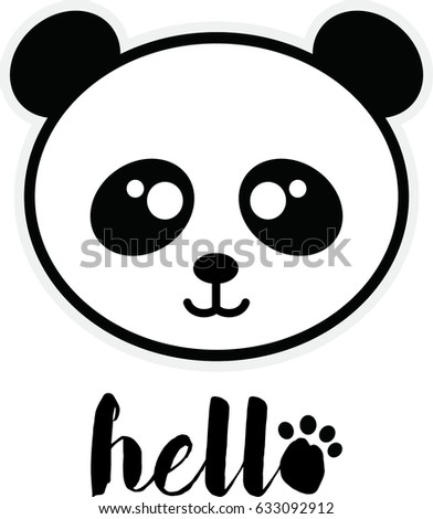 cartoon panda vector illustration ez canvas