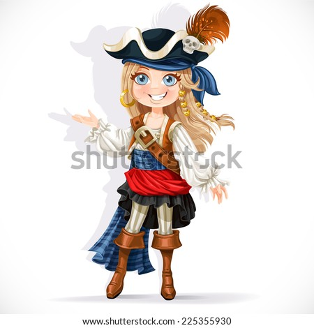 cute little pirate girl