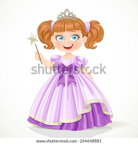 cute little princess in purple