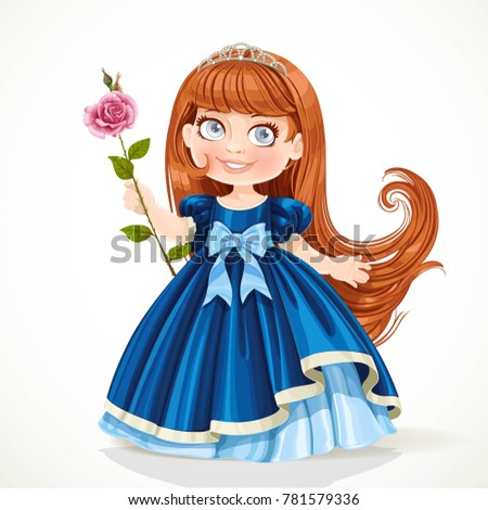 cute little princess with long