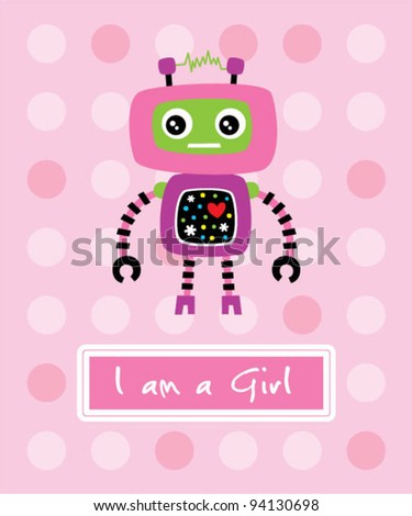 cute little robot birthday