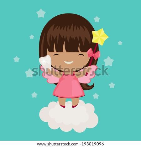 cute little tooth fairy on a