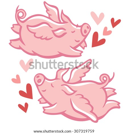 cute little winged pigs