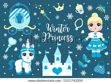cute little winter princess and