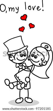 Cute love the bride and groom