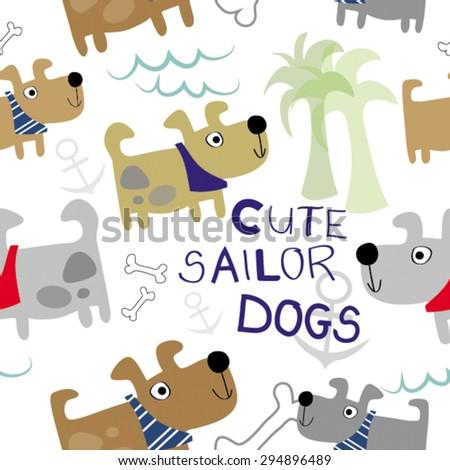 cute lovely dog doggy sailor