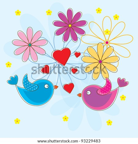 Cute lover bird