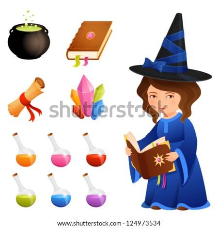 cute magic theme illustrations