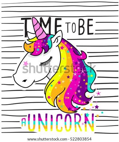 cute magical unicorn sweet kids