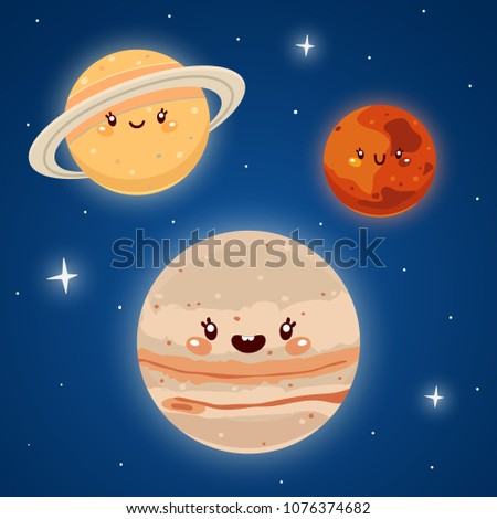 cute mars  jupiter and saturn