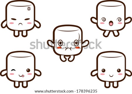 cute marshmallow character with