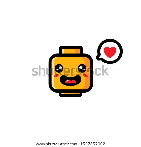 cute mascot toy vector design