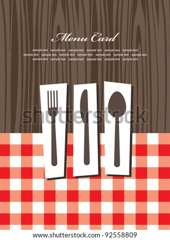 cute menu card. vector illustration
