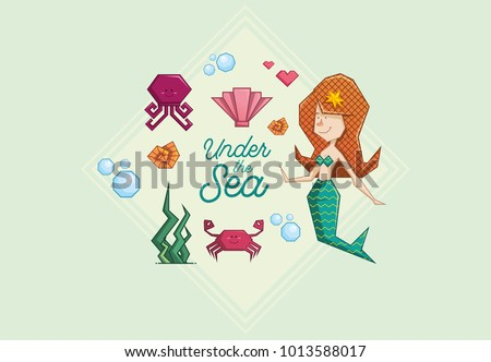 cute mermaid redhead
