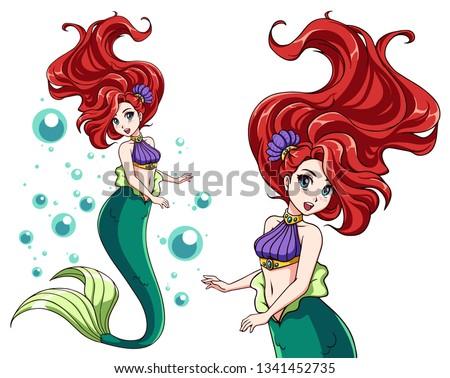 cute mermaid vector design