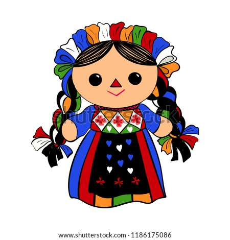 cute mexican traditional doll
