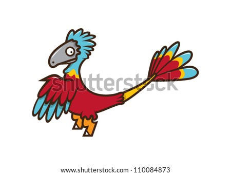 Cute Microraptor Vector