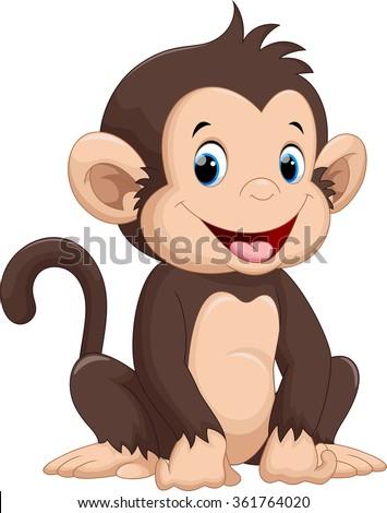 stock-vector-cute-monkey-cartoon