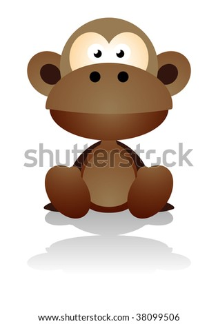 Cute Pics Of Monkeys. stock vector : cute monkey