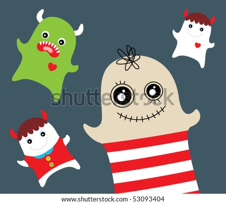 cute monster doodle