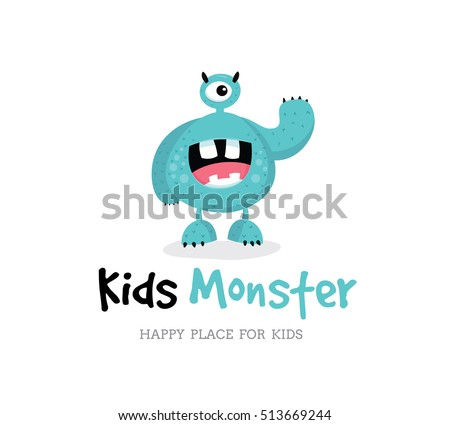 cute monster  monster logo