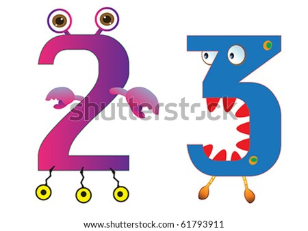 cute monster numbers 2 and 3