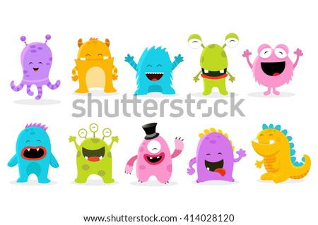 Cute Monster Set Foto stock ©