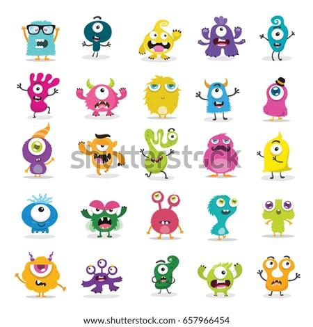 stock-vector-cute-monster-set