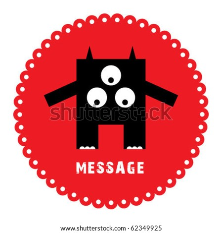 cute monster sticker