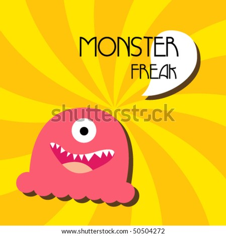 cute monster vector 3