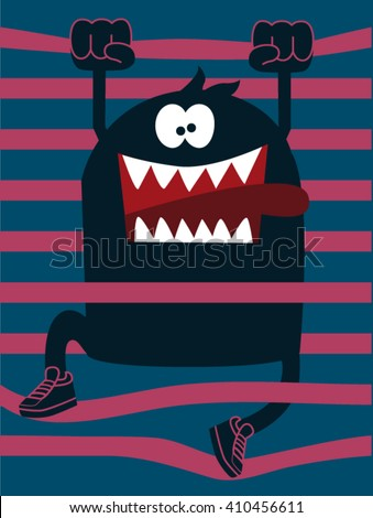 cute monster vector character