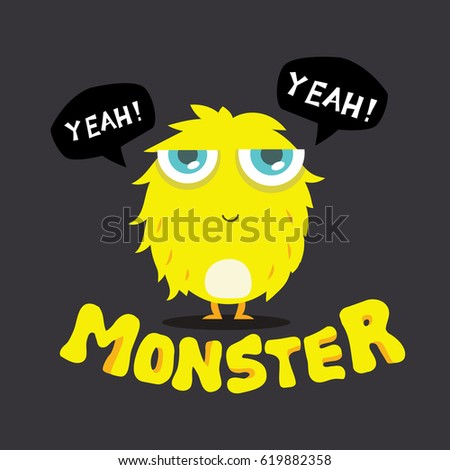 Cute Monster Vector, Colorful kids monster. Design for Monster logo and icon. #619882358