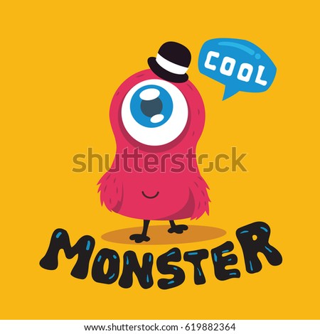 cute monster vector  colorful