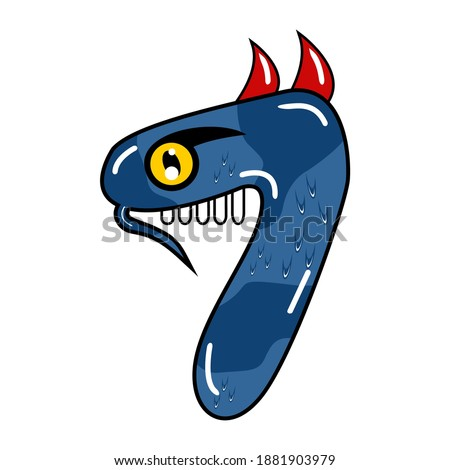 cute monster vector number