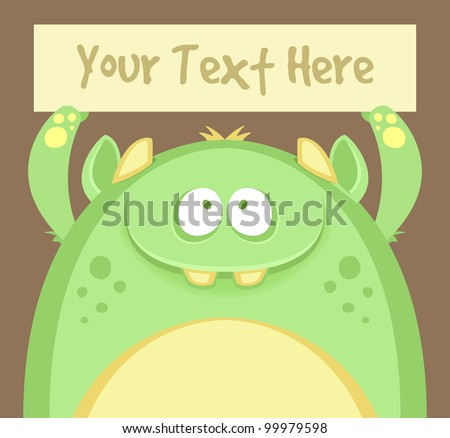 Cute Monster with Text Box