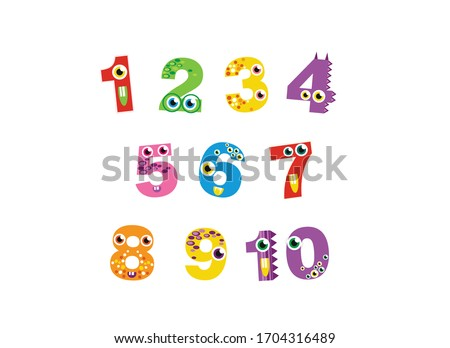 cute monsters numbers for
