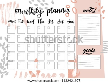 Cute Printable Weekly Calendar Vector Download Free Vector Art